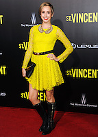 NEW YORK CITY, NY, USA - OCTOBER 06: Jazmin Grimaldi arrives at the New York Premiere Of The Weinstein Company's 'St. Vincent' held at the Ziegfeld Theatre on October 6, 2014 in New York City, New York, United States. (Photo by Celebrity Monitor)