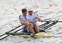Brandenburg, GERMANY, GBR BM2X,  Bow, Charles COUSIN and Bill LUCAS, 2008 FISA U23 World Rowing Championships, Saturday, 19/07/2008, [Mandatory credit: Peter Spurrier Intersport Images]..... Rowing Course: Brandenburg, Havel Rowing Course, Brandenburg, GERMANY