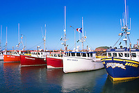 Ile du Havre-Aubert, Iles de la Madeleine, Quebec, Canada - Commercial Fishing Boats docked in Port du Millerand - (Amherst Island, Magdalen Islands)