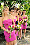 Bridesmaids all ready in the garden.  Total Tennis, Saugerties, New York)