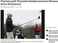DeForest's Matt Unger tees off on #18 on a chilly morning at the Monona Grove Invitational at The Oaks Golf Course on Thursday, April 13, 2017 in Cottage Grove, Wisconsin | Wisconsin State Journal article front page Sports 4/14/17 and online at http://host.madison.com/wsj/sports/high-school/golf/prep-boys-golf-waunakee-finishes-second-at-monona-grove-invitational/article_925480dc-86f6-56b9-932f-ee86effb56df.html