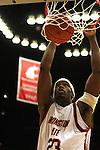 Washington State University freshman forward, DeAngelo Casto, dunks the basketball during the game against the Gonzaga Bulldogs in Pullman, Washington, on December 10, 2008.  Gonzaga prevailed in the game 74-52.