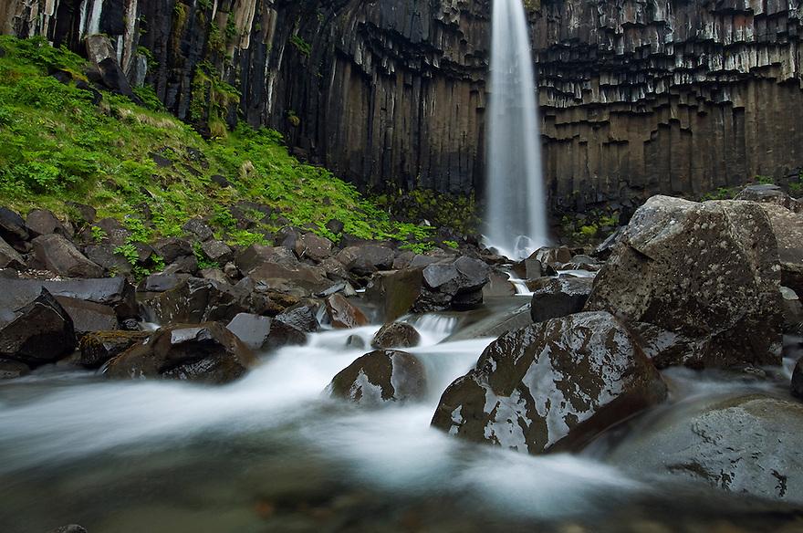 15.06.2008<br /> Svartifoss waterfall with basalt columns<br /> Iceland