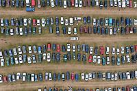 Festival goer's cars parked at the Heineken Open'er Festival in Kosakowo.