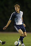 11 October 2007: Duke's Graham Dugoni. The University of North Carolina Tar Heels defeated the Duke University Blue Devils 1-0 in overtime at Fetzer Field in Chapel Hill, North Carolina in an Atlantic Coast Conference NCAA Division I Men's Soccer game.