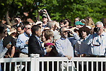 05/19/2013 - Medford/Somerville, Mass. - Parents wait for their children to process into Tufts University's 157th Commencement  on May 19, 2013. (Kelvin Ma/Tufts University)
