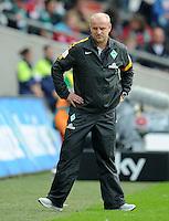 FUSSBALL   1. BUNDESLIGA   SAISON 2012/2013   3. SPIELTAG Hannover 96 - SV Werder Bremen     15.09.2012 Trainer Thomas Schaaf (SV Werder Bremen) enttaeuscht