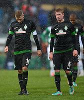 Fussball 1. Bundesliga :  Saison   2012/2013   9. Spieltag  27.10.2012 SpVgg Greuther Fuerth - SV Werder Bremen Aaron Hunt und Kevin De Bruyne (v. li., SV Werder Bremen)