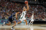 01 APRIL 2012:  Skylar Diggins (4) of the University of Notre Dame collects an in bounds pass against the University of Connecticut during the Division I Women's Final Four Semifinals at the Pepsi Center in Denver, CO.  Notre Dame defeated UCONN 83-75 to advance to the national championship game.  Jamie Schwaberow/NCAA Photos
