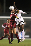 03 December 2010: Boston College's Hannah Cerrone (11) and Stanford's Lindsay Taylor (right). The Stanford University Cardinal defeated the Boston College Eagles 2-0 at WakeMed Stadium in Cary, North Carolina in an NCAA Women's College Cup semifinal game.