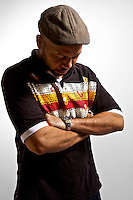 Jibrail Nor, drummer for BR and Timebomb, a Brooklyn, NY based hip hop group.