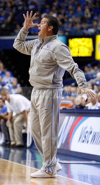 UK Head Coach John Calipari calls a play during the first half of the UK Blue-White Scrimmage at Rupp Arena in Lexington, Ky., Oct. 26, 2011. Photo by Brandon Goodwin | Staff
