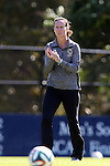 26 October 2014: Boston College head coach Alison Foley. The Duke University Blue Devils hosted the Boston College University Eagles at Koskinen Stadium in Durham, North Carolina in a 2014 NCAA Division I Women's Soccer match. Duke won the game 2-1 in overtime.