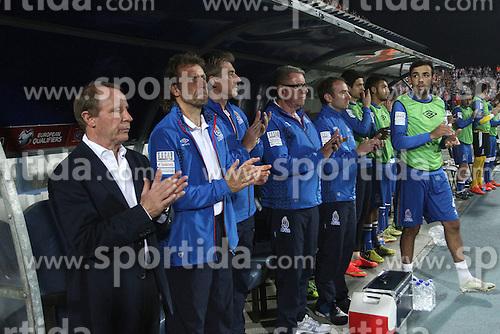 13.10.2014, Stadion Gradski vrt, Osijek, CRO, UEFA Euro Qualifikation, Kroatien vs Aserbaidschan, Gruppe H, im Bild Berti Vogts // during the UEFA EURO 2016 Qualifier group H match between Croatia and Azerbaijan at the Stadion Gradski vrt in Osijek, Croatia on 2014/10/13. EXPA Pictures &copy; 2014, PhotoCredit: EXPA/ Pixsell/ Marko Mrkonjic<br /> <br /> *****ATTENTION - for AUT, SLO, SUI, SWE, ITA, FRA only*****