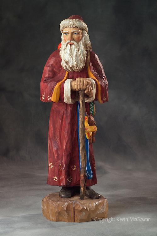 Old world santa claus woodcarving mcgowan photography