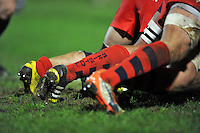 A general view of Bristol Rugby socks at a scrum. Aviva A-League match, between Bath United and Bristol United on December 28, 2015 at the Recreation Ground in Bath, England. Photo by: Patrick Khachfe / Onside Images