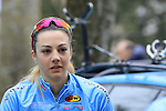 at sign on before the start of the Ladies 2017 Strade Bianche running 127km from Siena to Siena, Tuscany, Italy 4th March 2017.<br /> Picture: Eoin Clarke | Newsfile<br /> <br /> <br /> All photos usage must carry mandatory copyright credit (&copy; Newsfile | Eoin Clarke)