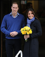 Kate, The Duchess of Cambridge and Prince William leave the King Edward VII hospital - London