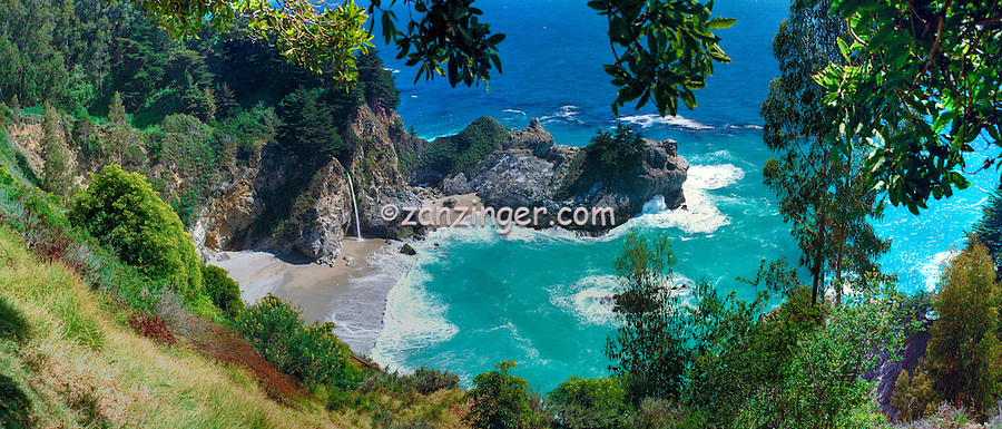 Julia Pfeiffer Burns, State Park, McWay Falls, Big Sur, California ,CGI Backgrounds, ,Beautiful Background