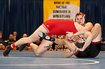 12 MAR 2011:  Aaron Denson of Nebraska-Omaha (in black) wrestles Charlie Pipher of Western State during the Division II Men's Wrestling Championship held at the UNK Health and Sports Center on the University of Nebraska - Kearney campus in Kearney, NE.  Denson defeated Pipher 6-4 to win the 184-lb national title. Scott Anderson/NCAA Photos