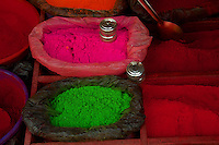 Ceremonial color Powder used by Sadhus Dakshinkall Bungamati, Khokana Animal sacrifice Temple, Kathmandu, Nepal