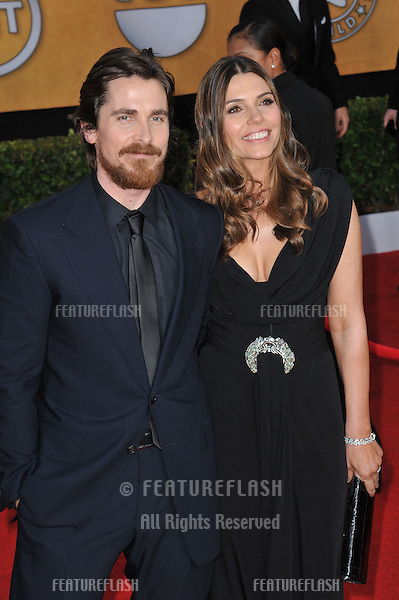 Christian Bale & wife at the 17th Annual Screen Actors Guild Awards at the Shrine Auditorium..January 30, 2011  Los Angeles, CA.Picture: Paul Smith / Featureflash