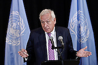 Spanish foreign minister José Manuel García-Margallo attends a meeting During the 68th Session of the UN General assembly in New York,  Sept 27, 2013, Photo by Stringer / VIEWpress.