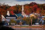 Autumn in Meredith village, Meredith, NH, USA