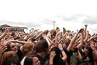 Crowd members enjoying proceedings as the No Sleep Til Festival