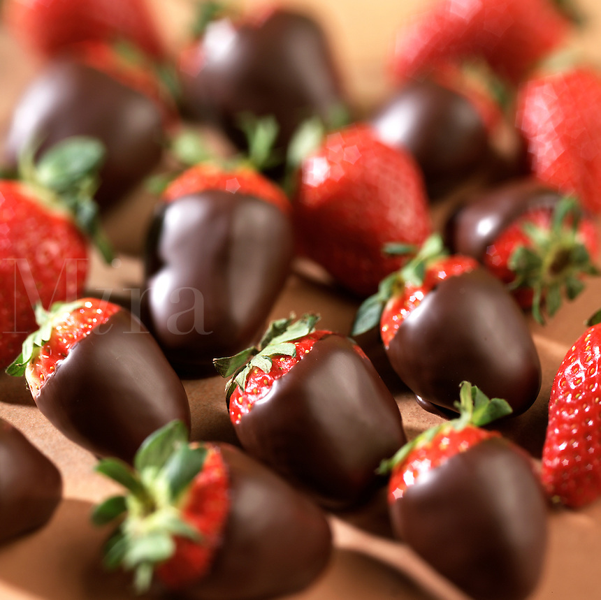 Chocolate dipped strawberries.
