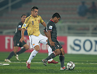 Bryan Duran controls the ball against Eduard Ramos (8). Spain defeated the U.S. Under-17 Men National Team  2-1 at Sani Abacha Stadium in Kano, Nigeria on October 26, 2009.