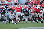 Ole Miss defensive tackle Gilbert Pena (99) vs. Georgia at Sanford Stadium in Athens, Ga. on Saturday, November 3, 2012.