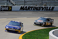 30 March - 1 April, 2012, Martinsville, Virginia USA.Scott Speed leads Travis Kvapil (93) .(c)2012, Scott LePage.LAT Photo USA