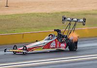 Oct 16, 2016; Ennis, TX, USA; NHRA top fuel driver Doug Kalitta during the Fall Nationals at Texas Motorplex. Mandatory Credit: Mark J. Rebilas-USA TODAY Sports