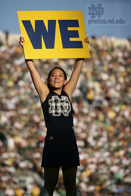 Cheerleader at football