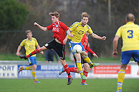 VOETBAL: HEERENVEEN: 23-11-2014, Sportpark Skoatterwâld, VV Heerenveen - SC Emmeloord, uitslag 2 - 1, Jordi Kouwenhoven (#10) links, ©foto Martin de Jong