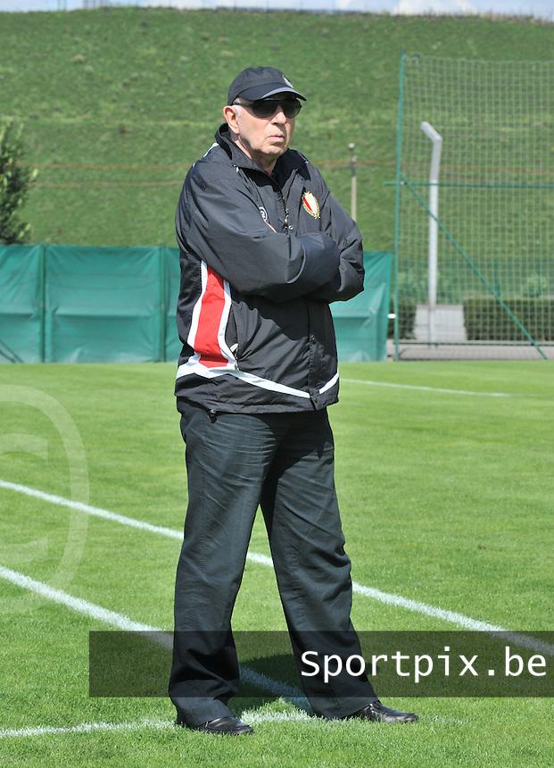 Supercup seizoen 2011 - 2012 ; Kampioen Standard Femina tegen Bekerwinnaar Waasland Beveren Sinaai Girls : Henri Depireux.foto DAVID CATRY / Vrouwenteam.be