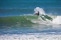 Monday July 12, 2010. Chris Davidson (AUS) Free surfing at Supertubes, Jeffreys Bay, Eastern Cape, South Africa.  Photo: joliphotos.com