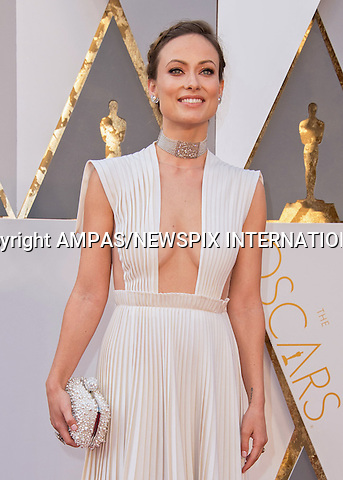 28.02.2016; Hollywood, California: 88th OSCARS - OLIVIA WILDE<br /> attend the 88th Annual Academy Awards at the Dolby Theatre&reg; at Hollywood &amp; Highland Center&reg;, Los Angeles.<br /> Mandatory Photo Credit: &copy;Ampas/Newspix International<br /> <br /> PHOTO CREDIT MANDATORY!!: NEWSPIX INTERNATIONAL(Failure to credit will incur a surcharge of 100% of reproduction fees)<br /> <br /> IMMEDIATE CONFIRMATION OF USAGE REQUIRED:<br /> Newspix International, 31 Chinnery Hill, Bishop's Stortford, ENGLAND CM23 3PS<br /> Tel:+441279 324672  ; Fax: +441279656877<br /> Mobile:  0777568 1153<br /> e-mail: info@newspixinternational.co.uk<br /> All Fees To: Newspix International