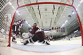 The Boston College Eagles defeated the visiting University of Massachusetts-Amherst Minutemen 4-1 in the opening game of their Hockey East Quarterfinals match up on Friday, March 11, 2011, at Conte Forum in Chestnut Hill, Massachusetts.
