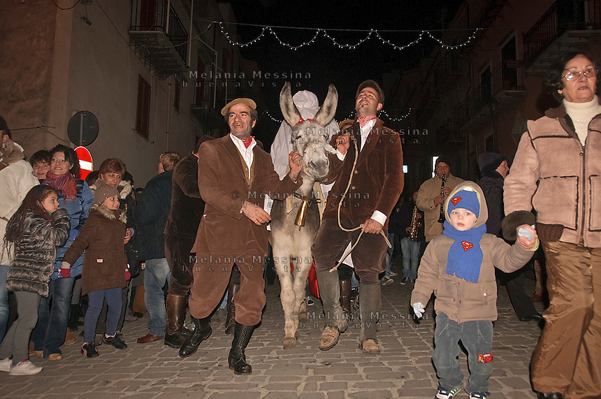 New year rites in Gratteri, a small village in the nature reserve of Madonie mountains in Sicily.<br />