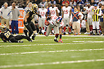 New Orleans Saints Tracy Porter (22) vs. New York Giants Hakeen Nicks (88) at the Superdome in New Orleans, La. on Monday, November 28, 2011. New Orleans won 49-24.