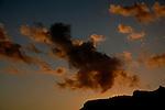 Clouds at dusk, Gran Canaria, Canary Islands, Spain.