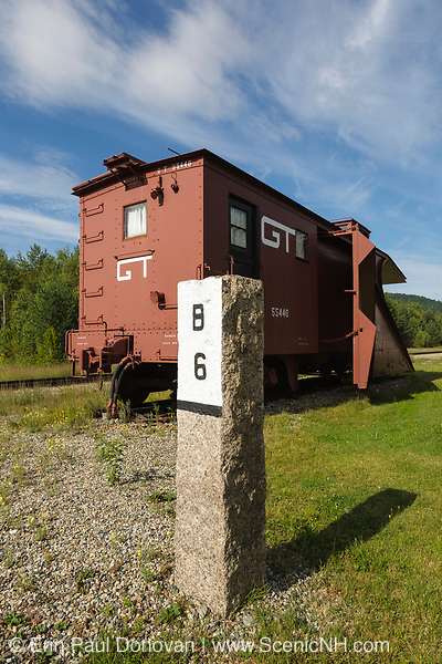 A 1951 Russell snow plow on display at the Grand Trunk Railroad Museum in Gorham, New Hampshire.