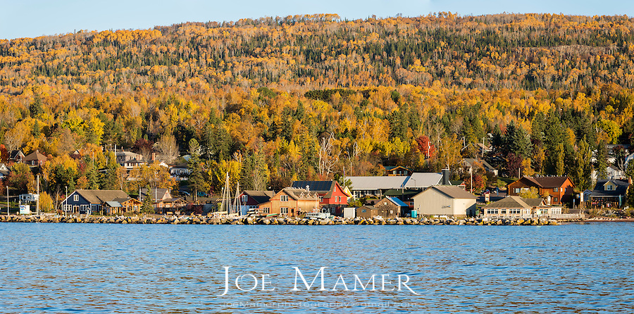 Grand Marais, Minnesota in autumn.