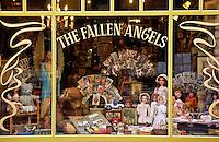 A doll and curiosity shop in Jan Breydel Straat, Ghent, Belgium