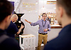The London Coffee Festival <br /> Truman Brewery, Brick Lane, London, Great Britain <br /> 6th April 2017 <br /> <br /> General atmosphere on the opening day of the London Coffee Festival <br /> Jeremy Torz - co-director delivering some training to delegates. <br /> <br /> <br /> Photograph by Elliott Franks <br /> Image licensed to Elliott Franks Photography Services