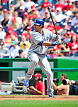 25 April 2010: Los Angeles Dodgers' right fielder Andre Ethier at bat against the Washington Nationals at Nationals Park in Washington, DC. The Nationals shut out the Dodgers 1-0 to take the rubber match of their 3-game series. Mandatory Credit: Ed Wolfstein Photo