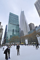 New York City, New York, Bryant Park, Ice Skating