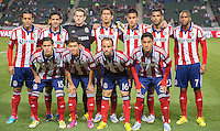 CARSON, CA - March 2, 2013: Chivas USA Starting Lineup for the Chivas USA vs Columbus Crew match at the Home Depot Center in Carson, California. Final score, Chivas USA 0, Columbus Crew 3.